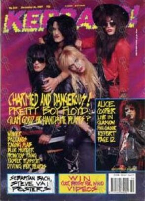 B Sides – Conheça o Pretty Boy Floyd PRETTY BOY FLOYD Kerrang Dec 16th 1989 Pretty Boy Floyd On Cover 1 217x300