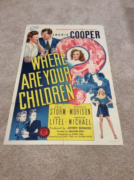 where are your children 1 sheet