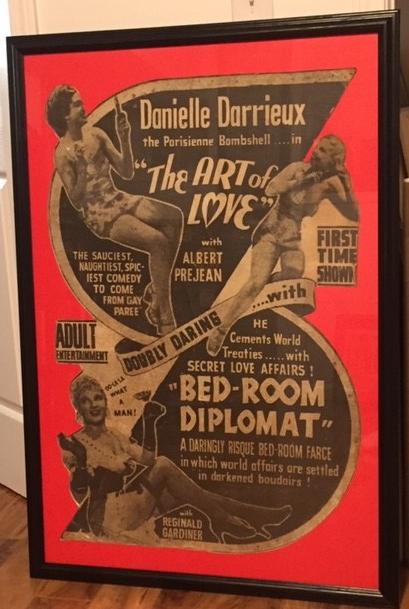 art of love - bedroom diplomat framed