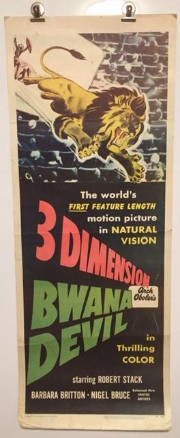 bwana devil insert