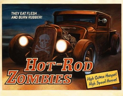 hot rod zombies 16x20 print
