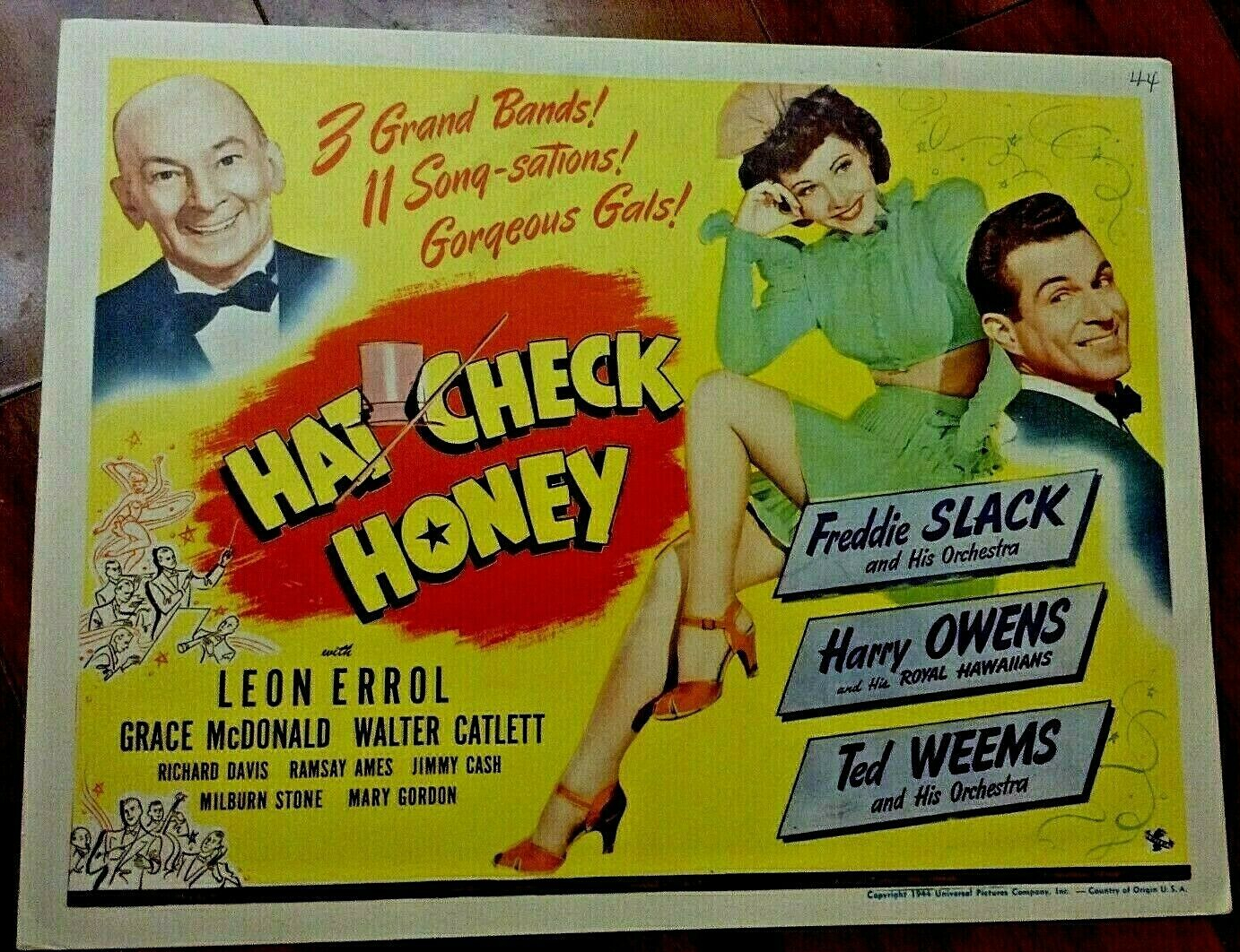 hat check honey title card