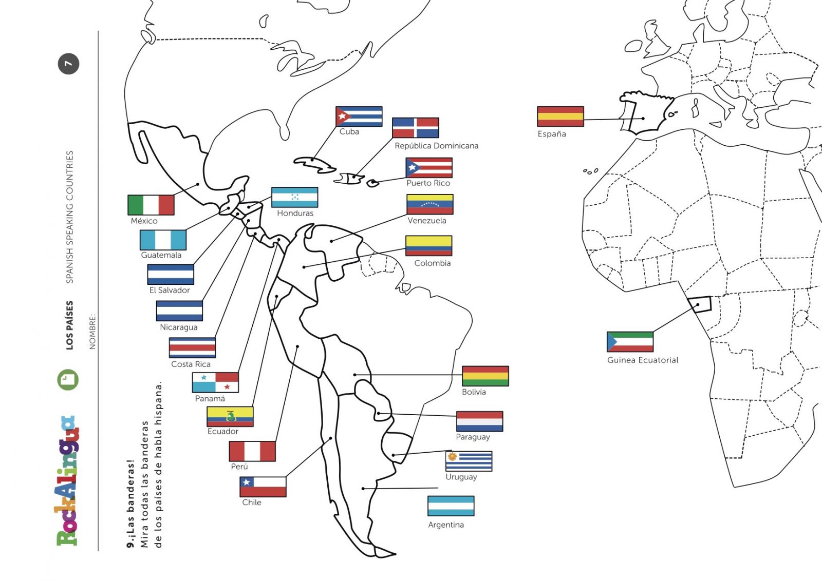 35 Blank Map Of Spanish Speaking Countries