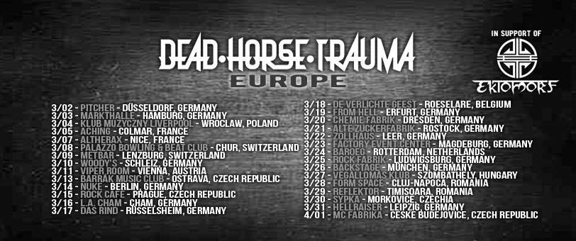 Dead Horse Trauma Announces European Tour with Ektomorf