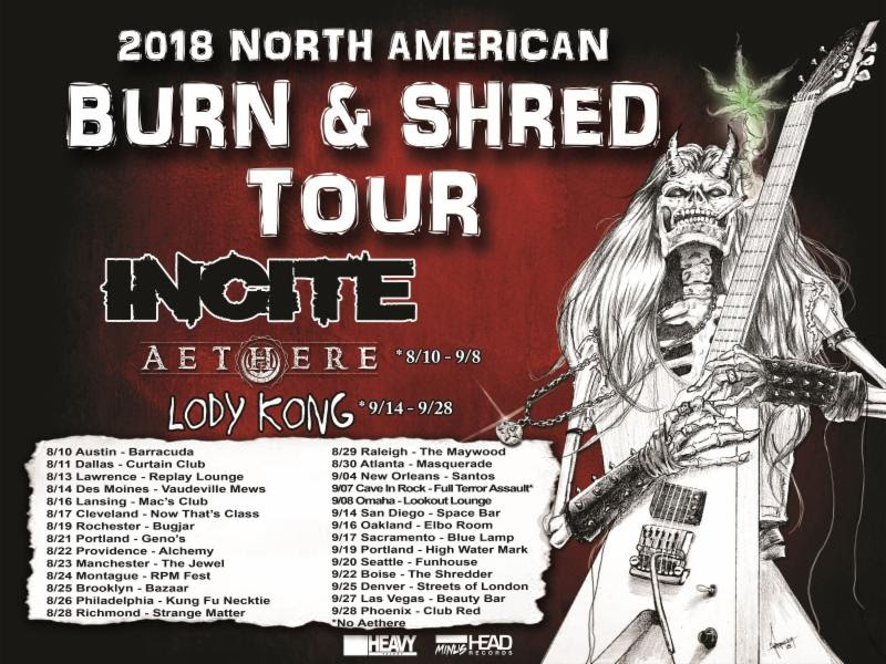 "INCITE Announces ""Burn & Shred"" North American Headline Tour Dates"