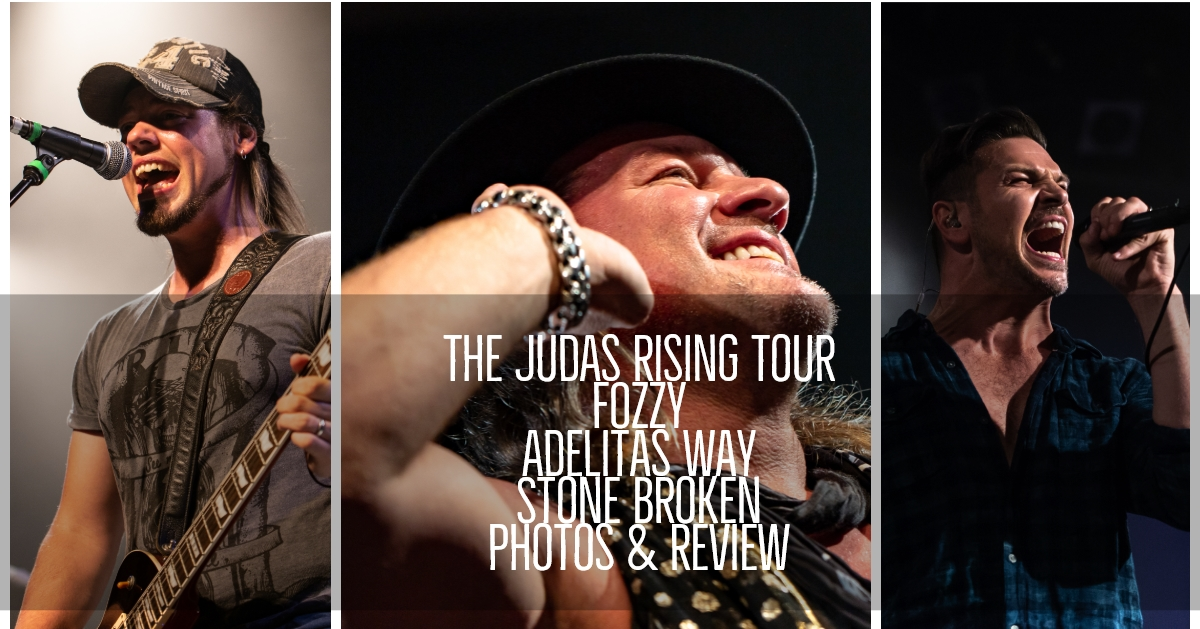 The Judas Rising Tour!! Coverage of Fozzy, Adelitas Way, and Stone Broken at Bogart's in Cincinnati, OH