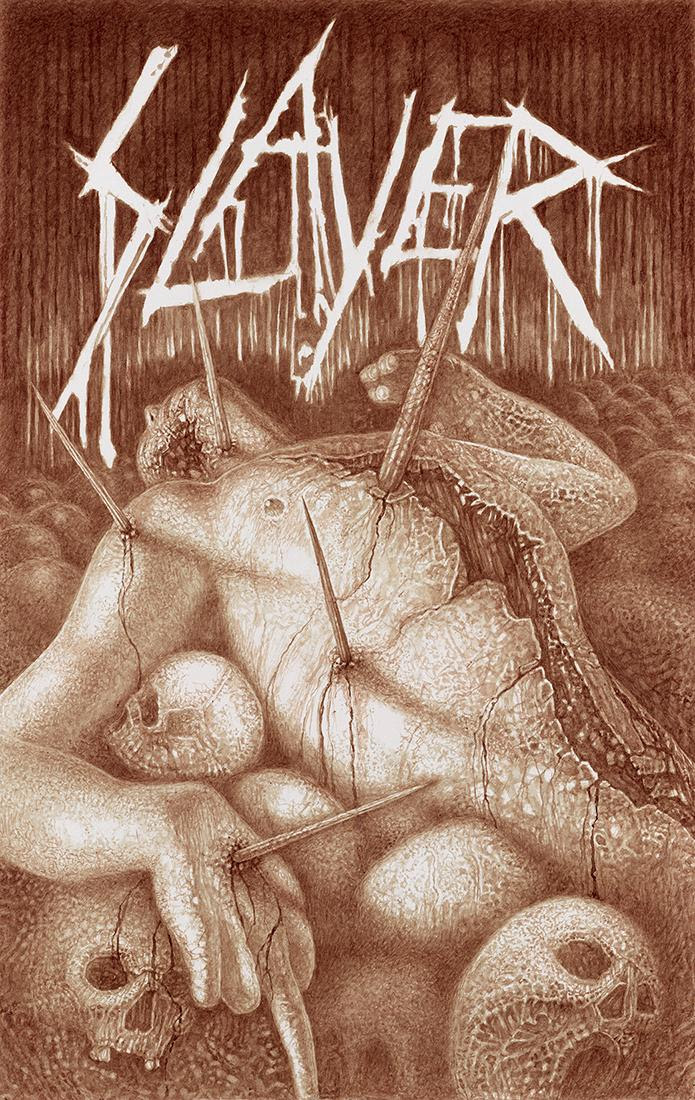 "Blackest of Black Friday Deals: Vincent Castiglia's Slayer ""Farewell"" Tour Poster Available in Limited Quantities"