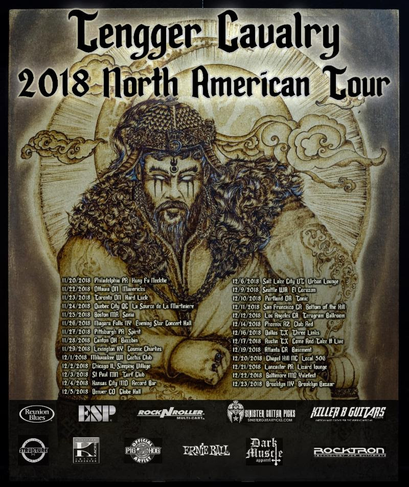 TENGGER CAVALRY Kicks Off North American Headline Tour Next Week! Tour to Feature Two Individual Hour-Long Sets of World Music and Heavy Metal