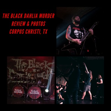 Coverage of The Black Dahlia Murder in Corpus Christi, Texas 12/6/18! Photos & Review HERE!