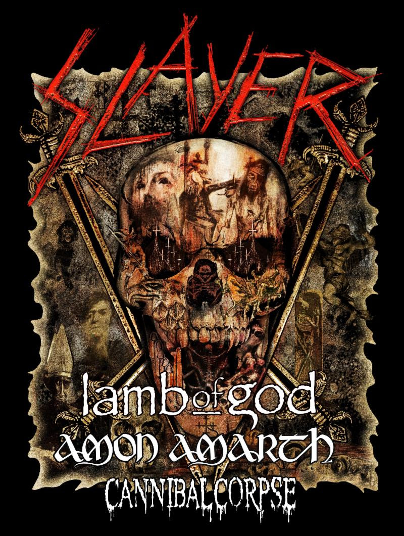 LAMB OF GOD to Perform on Slayer's Final World Tour, Leg 5: North America   Featuring Additional Support from Amon Amarth & Cannibal Corpse