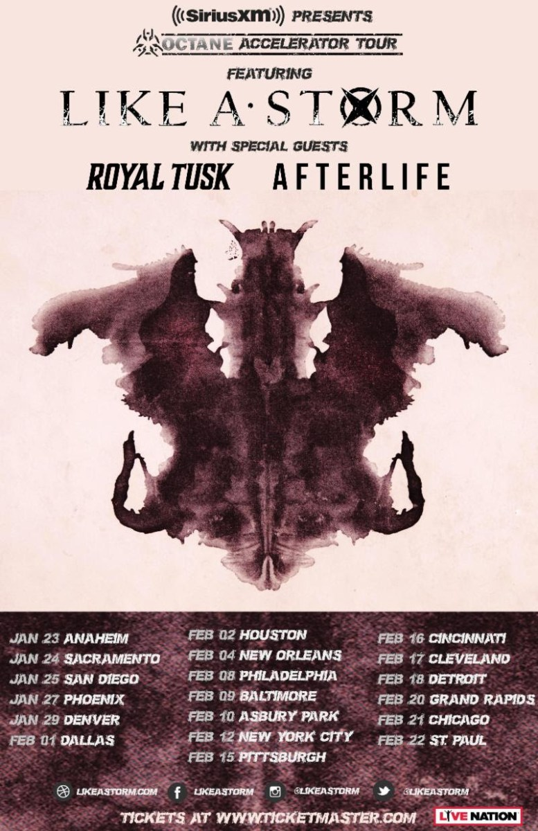LIKE A STORM ANNOUNCES 2019 SIRIUS XM OCTANE HEADLINE TOUR