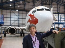 Bruce Dickinson of Cardiff Aviation pictured at his depot in St Athan (Photo: Western Mail)