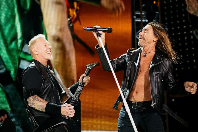 James Hetfield e Iggy Pop, juntos en México (Ross Halfin)