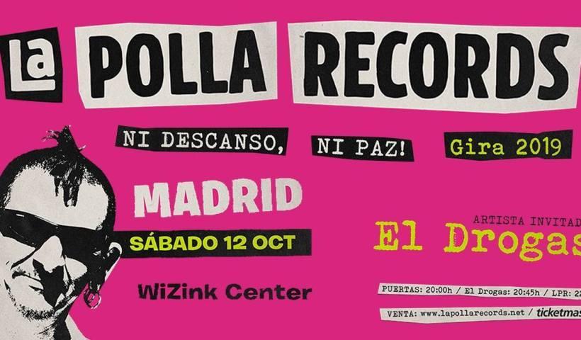 cartel concierto la polla records madrid occtubre 2019