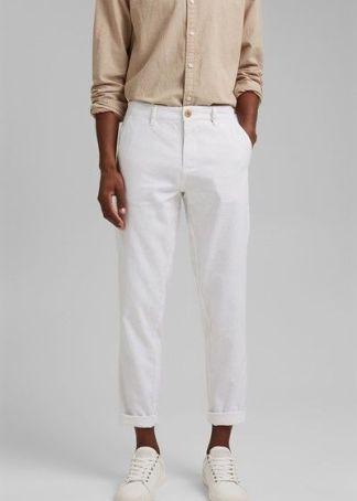 pantalones de lino y algodon