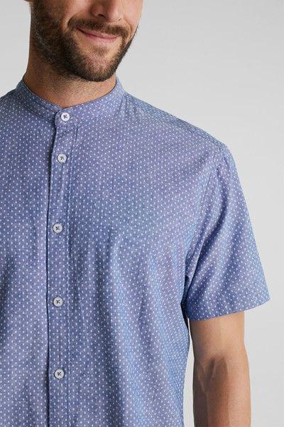 camisa cuello mao de algodon y lino