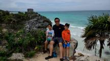 I took AJ and JJ on an excursion to see Mayan ruins.