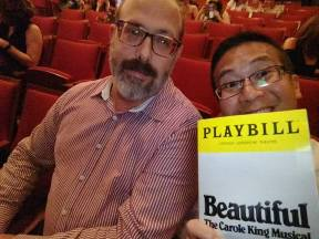 We took in a bunch of Broadway on our honeymoon! 1 of 5