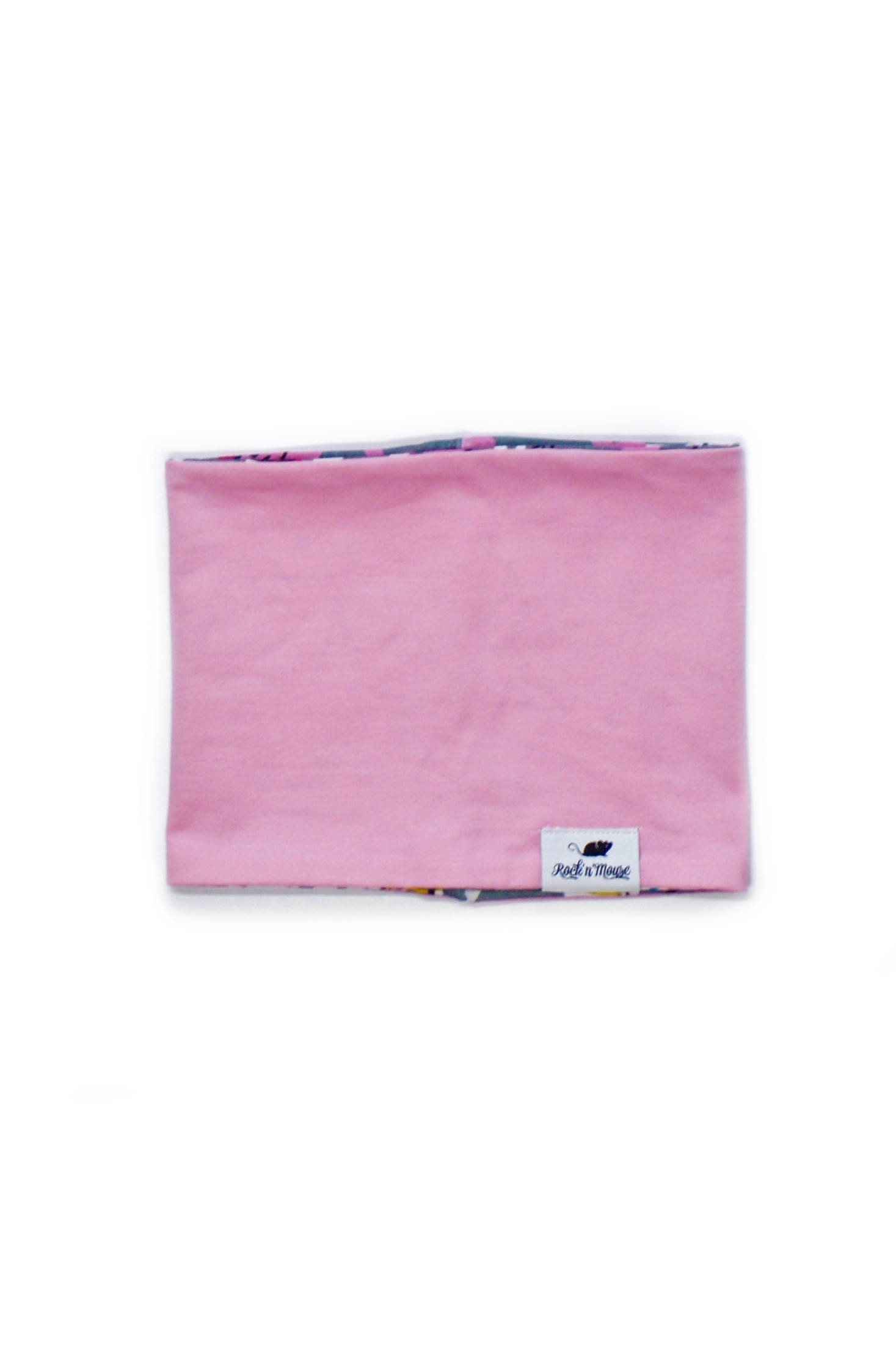 Reversable pink infinity scarf for girls, kids, toddlers, baby
