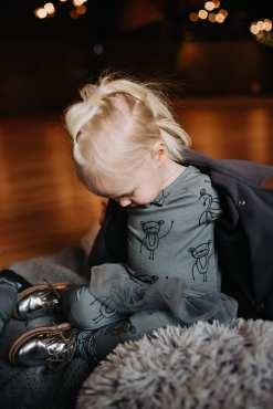 Happy monkeys tunic-dress Enia nd unisex leggings for kid, girl, toddler, baby
