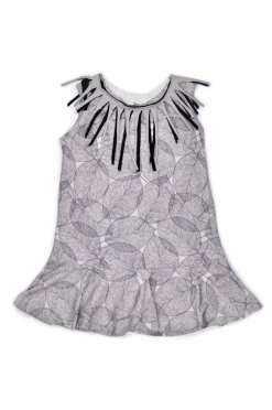 Leaf dress with fringe for toddler, girl, kid, baby