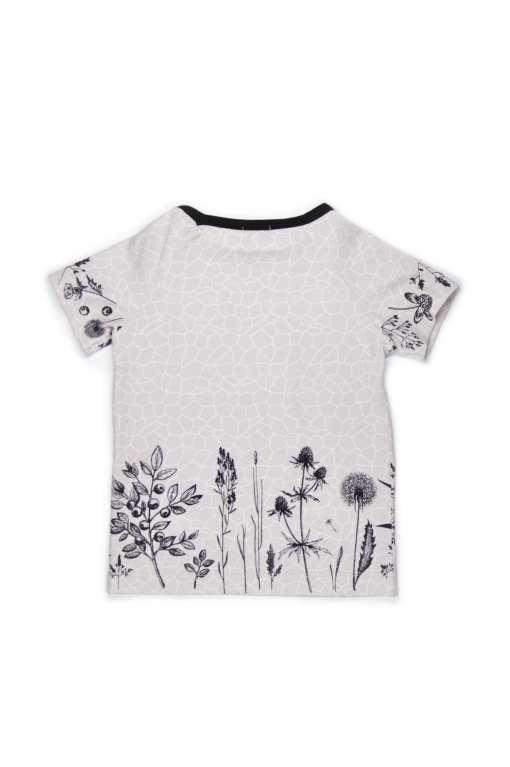 Unisex Monochrome flower shirt for kid, boy, girl, toddler, baby