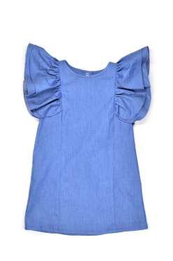 Little wing denim dress for kid, girl, toddler
