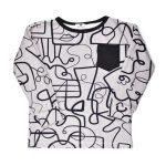 Grey faces kids shirt for girl, boy, toddler