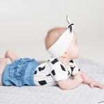 Monochrome unisex baby boy and girl, toddler, kids bodysuit in monochrome print
