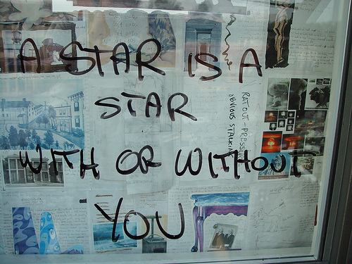 A star is a star with or without you