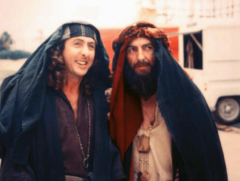 Eric Idle and George Harrison