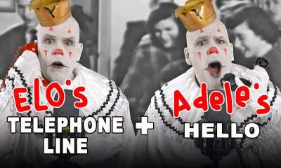 Watch Puddles Pity Party singing ELO's Telephone Line with Adele's Hello