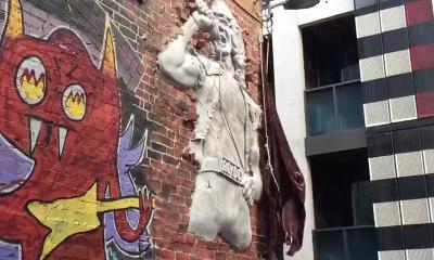 Bon Scott sculpture in Melbourne