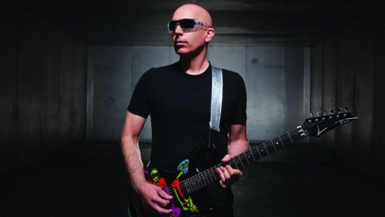Joe Satriani playing the guitar