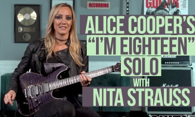 Nita Strauss playing I'm Eighteen