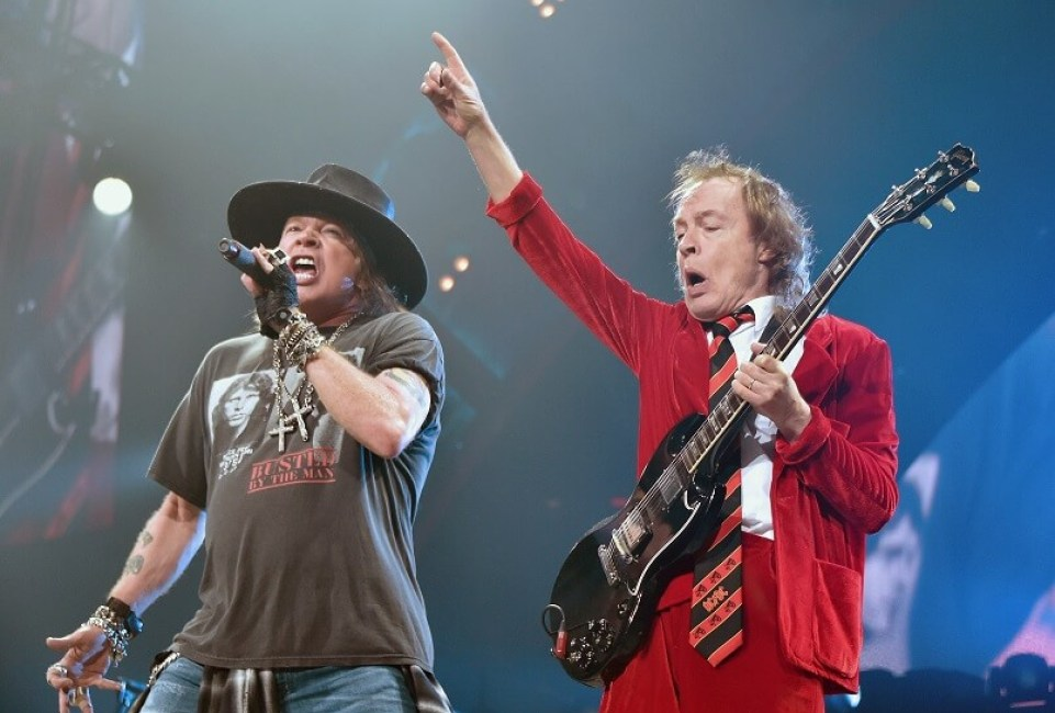Axl Rose and Angus Young