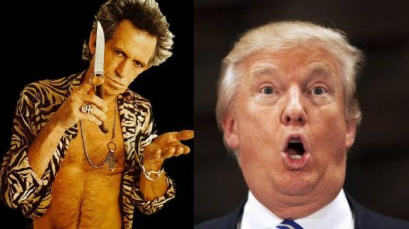 Donald Trump and Keith Richards
