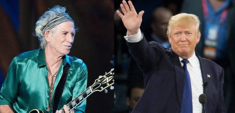 Keith Richards and Donald Trump