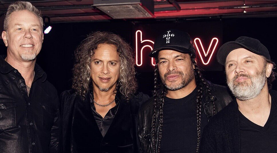 Metallica wearing black