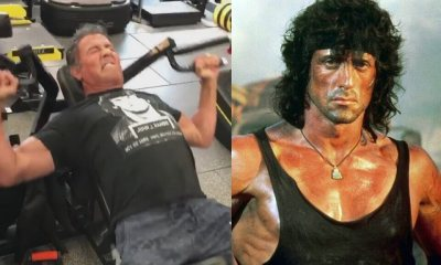 Stallone working out for Rambo V