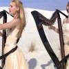 The Harp Twins performing Metallica