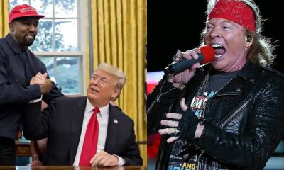 Kaney West Donald Trump and Axl Rose