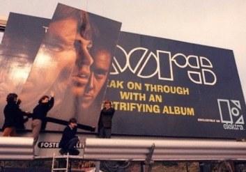 Doors Billboard on Sunset Strip