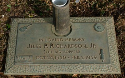 "Buried Here – J. P. ""Big Bopper"" Richardson, Singer Of ""Chantilly Lace"""
