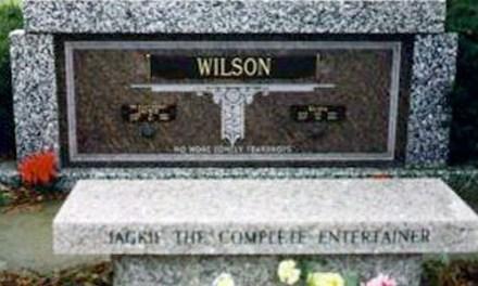 Buried Here –  Jackie Wilson He Had Over Two Dozen Top 40 Singles