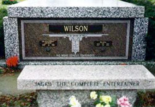 Jackie Wilson Headstone