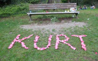 Kurt Cobain Memorial in Viretta Park