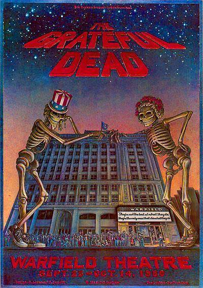 Poster For The Warfield Theater