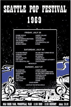 Seattle Pop Festival Poster