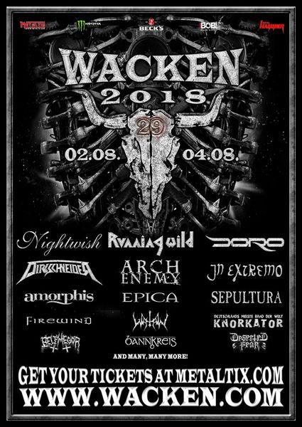 WACKEN OPEN AIR 2018 - Primeras bandas confirmadas